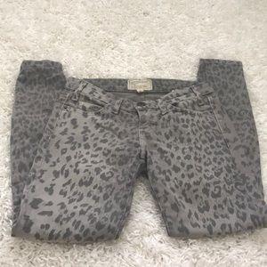 Current Elliott Leopard Jeans size 24